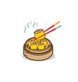 dim sum chinese food with chopstick vector image