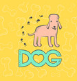 dog poodle funny caricature animal cartoon vector image