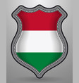 flag of hungary badge and icon vector image