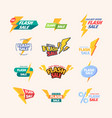 flash sales colorful promo titles advertising vector image vector image
