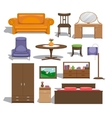 Furniture for bedroom vector image vector image