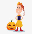 halloween people customes vector image