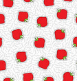 Hand drawn strawberry patch icon seamless pattern vector image vector image