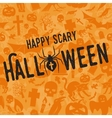 Happy scary Halloween party concept vector image vector image