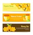 honey bee banners vector image