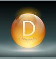 icon vitamin d vector image vector image