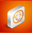 isometric global technology or social network icon vector image