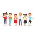 kids singing song flat set vector image vector image