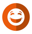 laughing emoticon style icon shadow vector image vector image