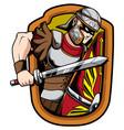 legionnaire soldier mascot vector image vector image