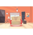 Living room cartoon eps 10 vector image