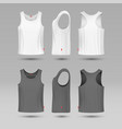 mans white blank tank singlet male shirt without vector image vector image