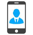 mobile user profile flat icon symbol vector image vector image