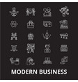modern business editable line icons set on vector image vector image