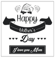 Mothers day design vector image vector image