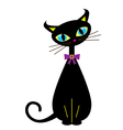 Noveau cat vector image vector image