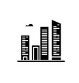 office skyline black icon sign on isolated vector image