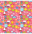 Pink Flat Travel Resort Vacation Seamless Pattern vector image vector image