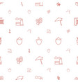plant icons pattern seamless white background vector image vector image