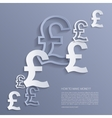 pounds signs background vector image vector image