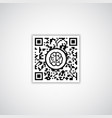 qr code with human brain icon vector image vector image
