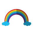 rainbow and clouds icon image vector image vector image