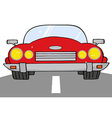 Red Convertible Car On A Road vector image vector image