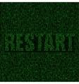 restart code background vector image vector image