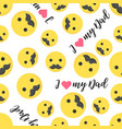 seamless pattern happy fathers day with emoji and vector image