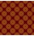 Seamless Yellow Mandala Pattern over Dark vector image