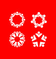 set logos depicting unity community vector image