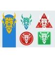 set masks devil vector image vector image