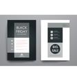 Set of brochure poster design templates in sale vector image vector image