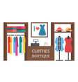 shoes shop footwear store shopping vector image vector image