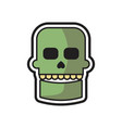 skull halloween logo icon design vector image