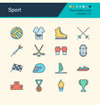 sport icons filled outline design collection 27 vector image