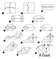 step instructions how to make origami a goat vector image