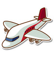 sticker design with airplane isolated