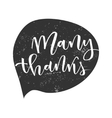 Thank you lettering greeting vector image vector image