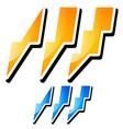 thunderbolt lightening icons vector image vector image