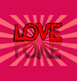 valentines day card background with love vector image