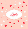 valentines day sale poster design background vector image