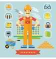 Architecture and Construction color flat concept vector image