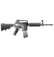 m16 gun vector image