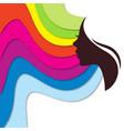 profile girl vector image