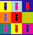dress sign pop-art style vector image