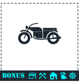 Motorcycle icon flat vector image
