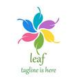 6 leaf logo template design vector image