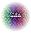 Abstract Floral Sphere vector image vector image