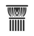 antique column black icon symbol of vector image vector image